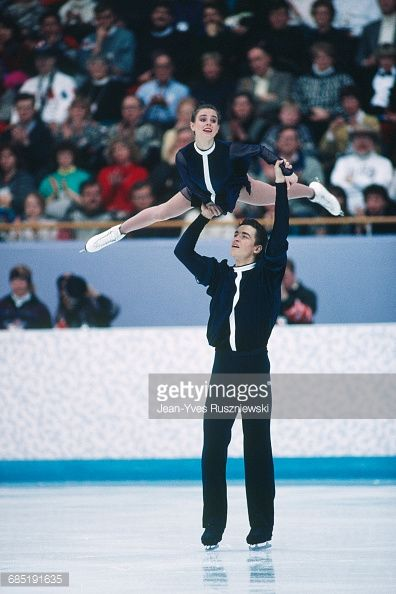 Russian figure skaters Ekaterina Gordeeva and Sergei Grinkov at the 1994  Winter Olympics.