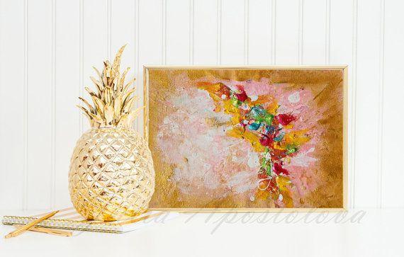 #GoldPainting #MinimalArt #OriginalAbstractPainting #FengShuiWallArt #GoldFramedArt #abstractWallArt #SmallPainting #WeddingGift by #JuliaApostolova on #Etsy