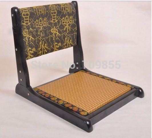 (2pcs/lot) Tatami Chair Foldable Leg Removable Cushion Mat Black Finish Asian Home Living Furniture Japanese Floor Legless Zaisu