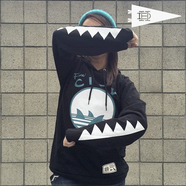 c316f1a8 Fin City - Hoodie | Now if Only I Could Have it... | Shark, Shark clothes,  Shark logo