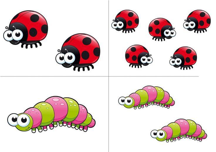 A los niños les encanta hacer cuentas. Estas tarjetas coloridas son ideales para pasar un rato contando insectos. Mírame y aprenderás en Facebook