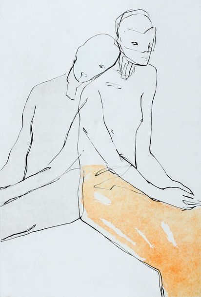 Seated Couple  76x51 2015