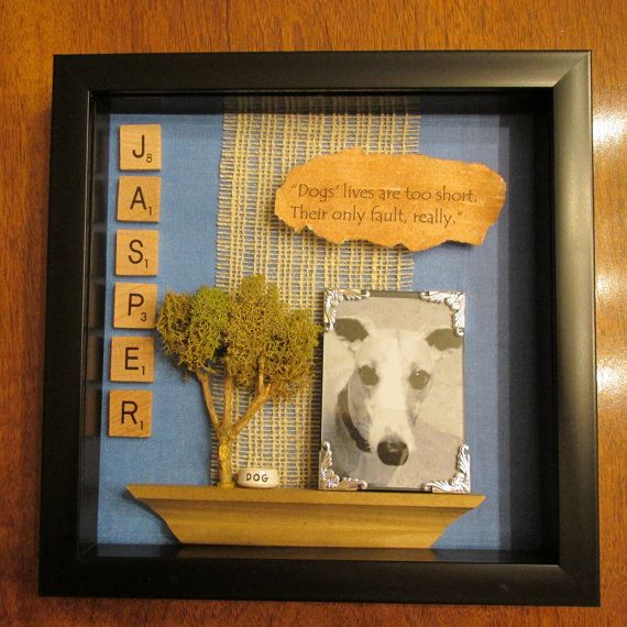 Custom Commemorative Dog Shadow Box by ShadowsofLove on Etsy, $35.00