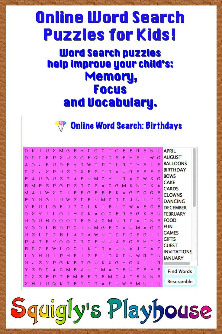 17 Best images about Crossword, Word Searches and Other ...