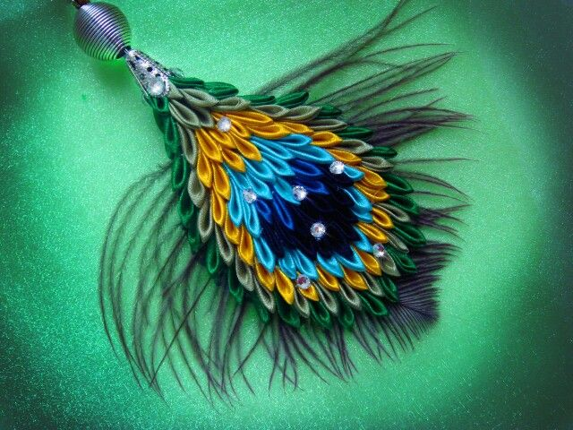 .Kanzashi pendant
