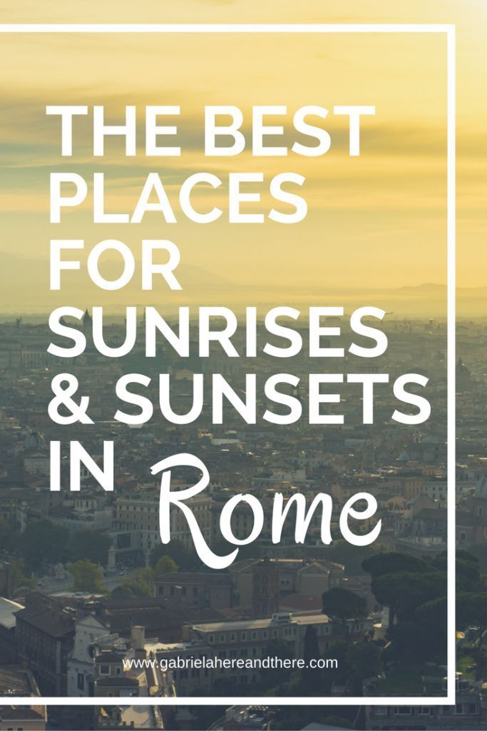 As a travel photographer, I'm obsessed with sunrises and sunsets. Here are the best places for sunrise and sunset photos in Rome. #Rome
