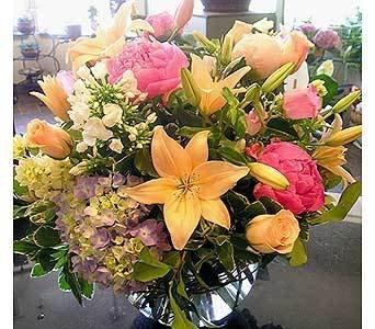Wedding, Flowers, Pink, Centerpiece, Yellow, Cattails - Project Wedding