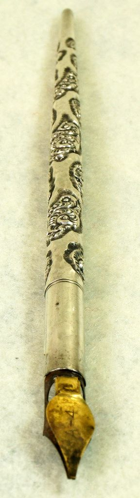 Antique Victorian Sterling Silver Dip Ink Pen Quill Fountain with A-4 Nib To see the Price and Detailed Description you can find this item in our Category Vintage Drafting, Writing on eBay: http://stores.ebay.com/tincanalley1/Vintage-Drafting-Writing-/_i.html?_fsub=19688859018  RD17424