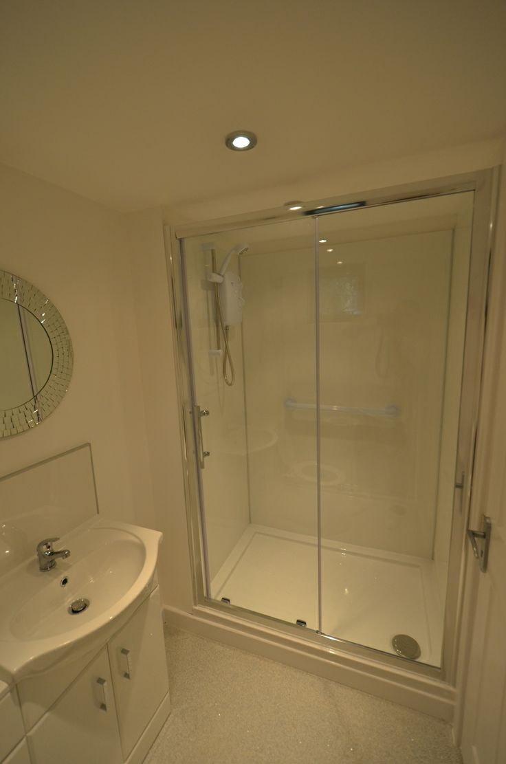 Modern Fitted Shower Room In A Granny Annexe Built In The