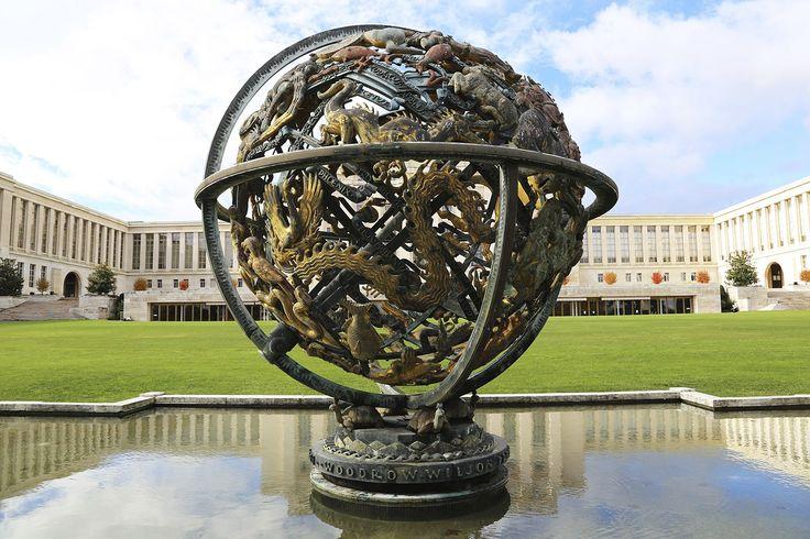 Женевский Дворец Наций - одно из самых известных зданий Швейцарии - Женева - Швейцария - достопримечательности - GlobeTrotter - рассказы о путешествиях, отзывы о достопримечательностях Geneve UN