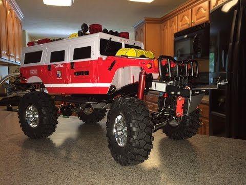 RC Tonka Fire Rescue Hummer Rock Crawler Build Part 2 - YouTube
