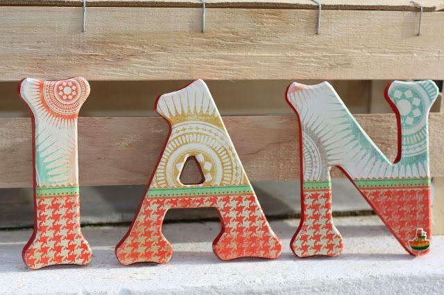 Pin by carol ruiz on letras de madera decoradas a mano - Letras de madera decoradas ...