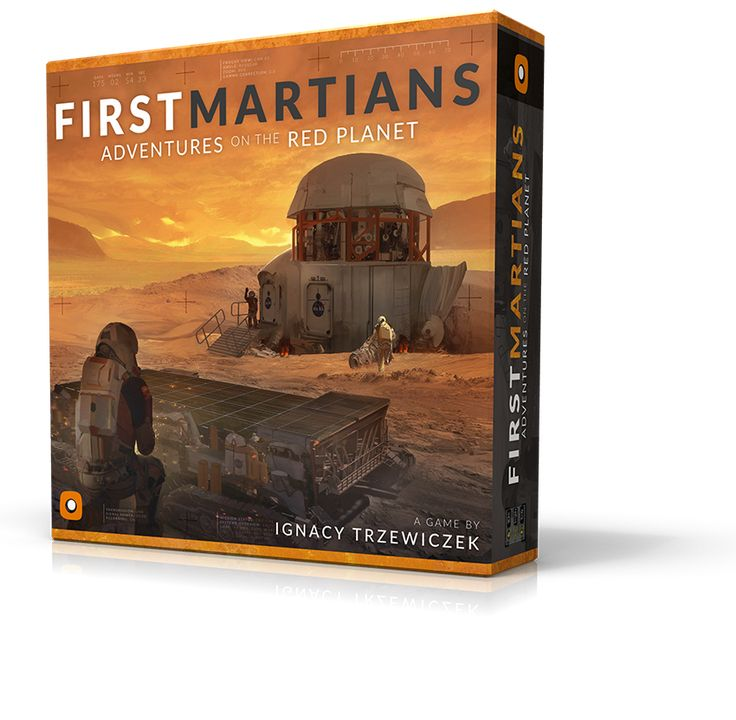 First Martians boardgame cover design