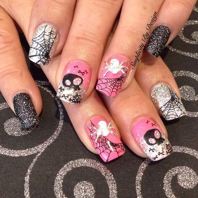 Halloween Nail Art Designs Gallery: 1000+ Images About Halloween Nail Art On Pinterest