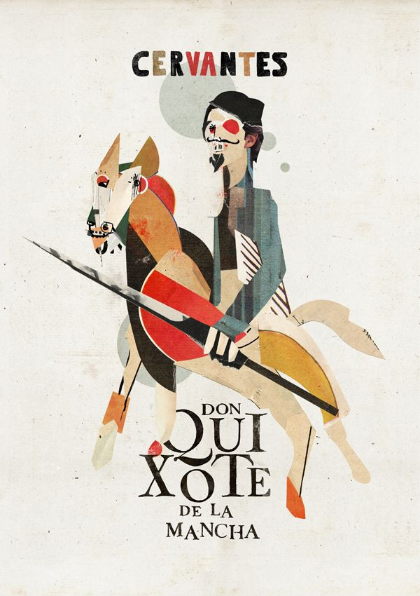 Miguel de Cervantes, Don Quixote. Design: Christos Kourtoglou #bookcoverdesign
