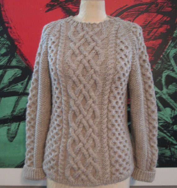 I had a sweater like this custom made in this color.  I wanted to invest in a classic cabled oversized sweater.