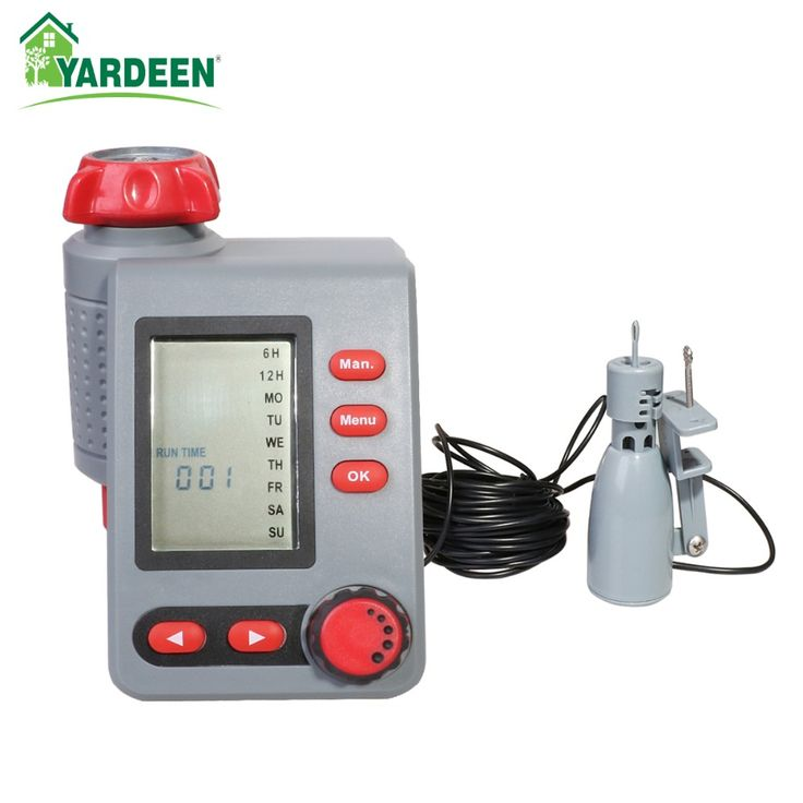 Solenoid Valve Water Timer Large Screen  Digital Irrigation Timer Garden Watering Timer Automatic Controller  with Rain Sensor