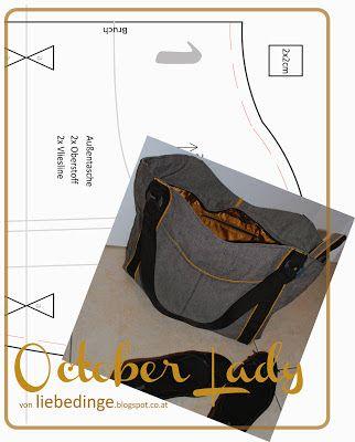 liebedinge: schnittmuster Tasche Oktober Lady | Tasche | Pinterest ...