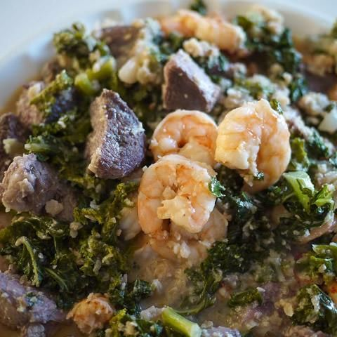 Cameroonian Ndole Soup. Bitter leaves with peanuts, prawns and fresh ginger in this traditional soup - See more at: http://www.allaboutcuisines.com/recipe/cameroonian-ndole-soup#sthash.fzXYKNNq.dpuf #Cameroon Recipes #Cameroon Food