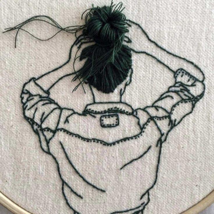 Haarige Stickereien von Sheena Liam