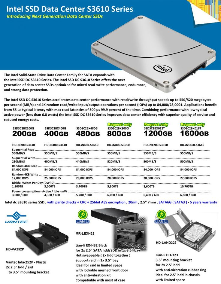 Intel SSD Data Center S3610 Series