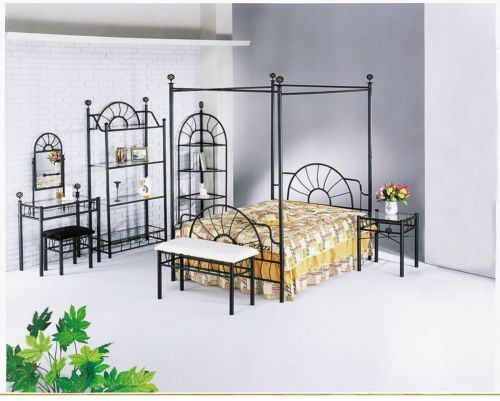 CHECK OUT! Queen Canopy Bed Frame With Headboard https://seethis.co/GznXG/ #queensizebed #canopybed ##bedroom #headboard #metal #industrial