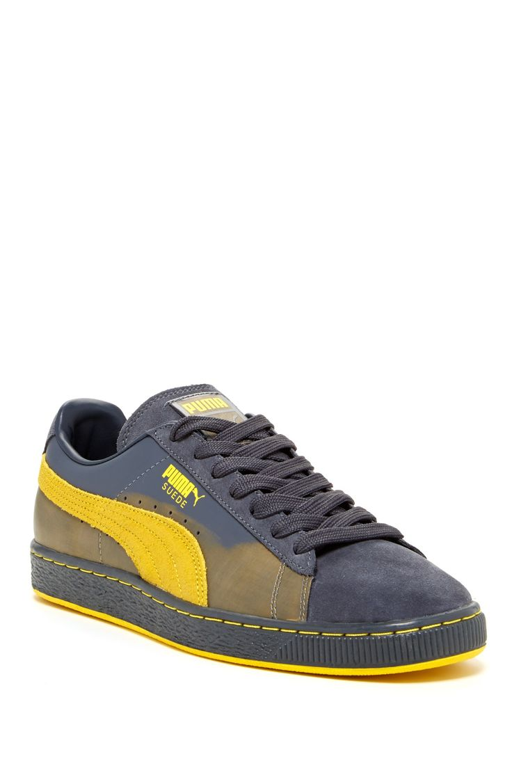 Details about puma womens suede classic rg black running shoes - Puma Suede Classic Colorburn Grey Yellow