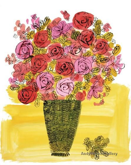 Andy Warhol Bouquet of Flowers c. 1950's - POP ART GALLERY
