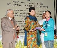 The Minister of Social Justice and Empowerment, Kumari Selja on 7 January 2014 gave away the Dr. Ambedkar National Merit Awards to meritorious students belonging to Scheduled Castes and Scheduled Tribes.