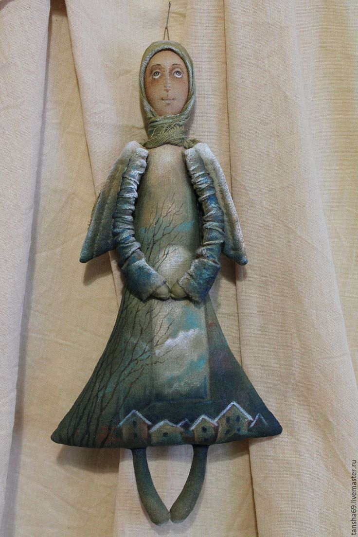 Купить Ангел - комбинированный, текстильная кукла, ароматизированная кукла, интерьерная кукла, ангел, ангелы