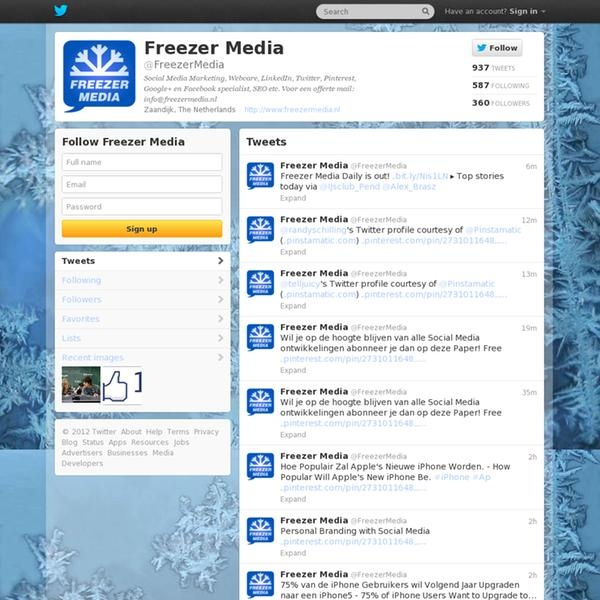 @FreezerMedia Je kan ons ook volgen via Twitter - You can also follow us via Twitter