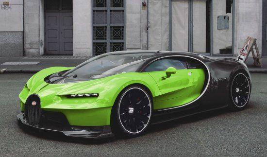 3D-artist knutselt mogelijke Bugatti Chiron in elkaar ...