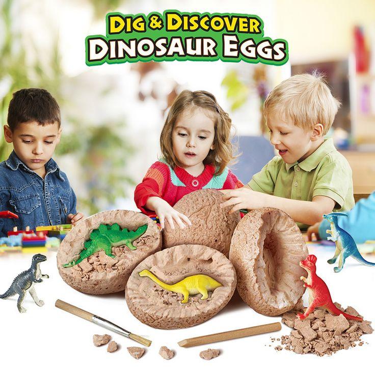 DIY huevos de dinosaurio excavación juguetes de dinosaurio novedad mordaza juguetes para niño…