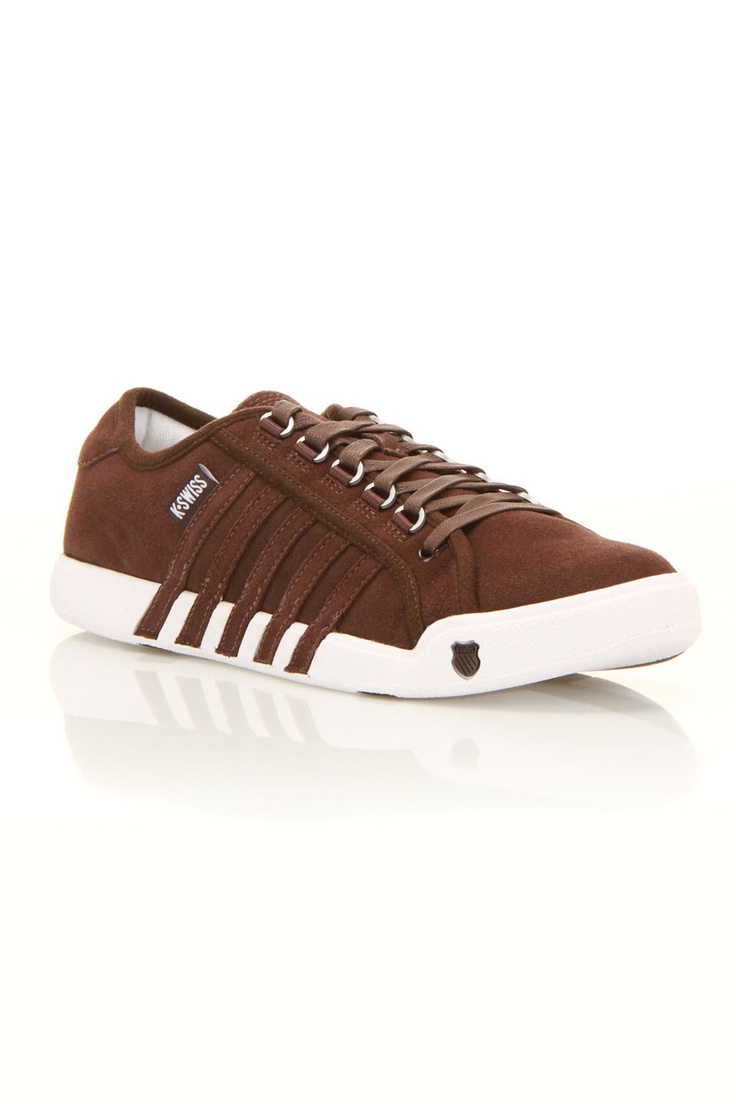 K-Swiss Men's Newport Shoes In Chocolate And White