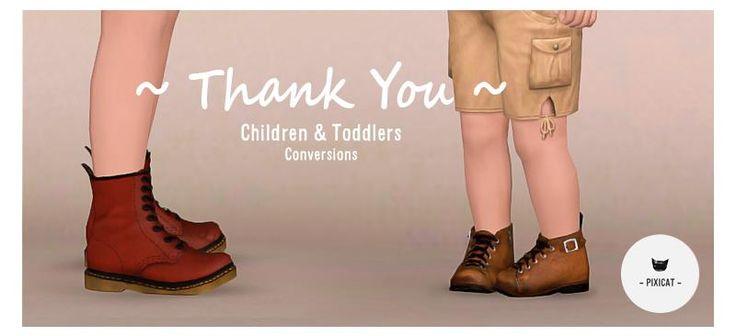 Sims 3 обувь для детей мальчики