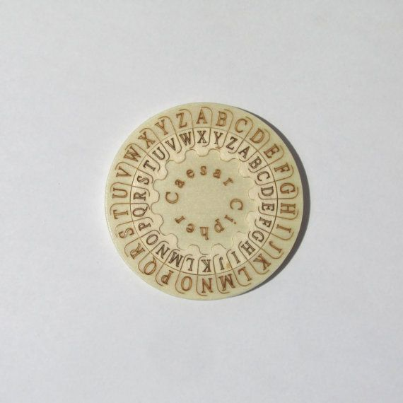 Caesar cipher by PeToy on Etsy