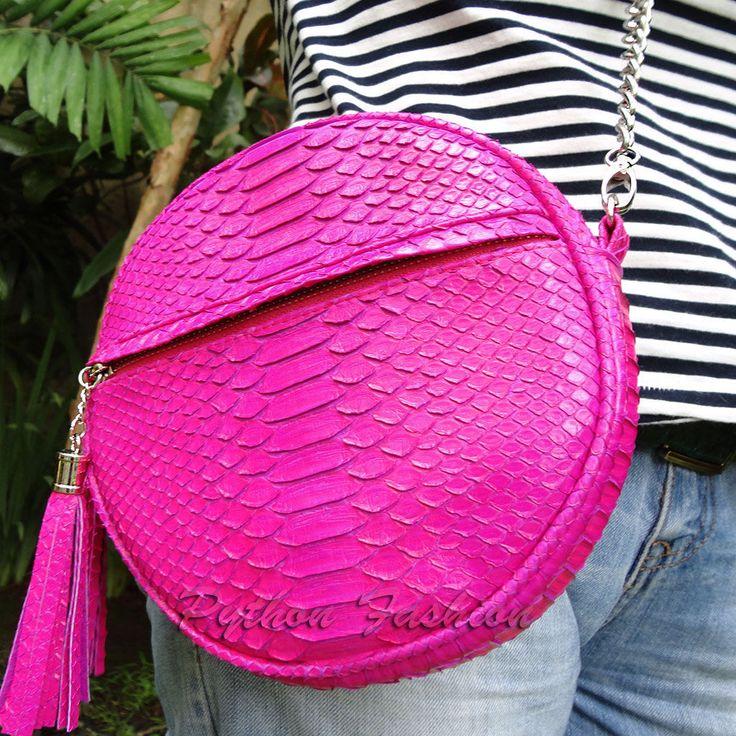 Купить Сумочка кросс боди из питона SANDRIN - сумочка из кожи питона, модная сумочка