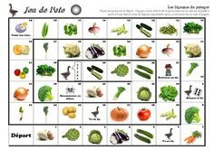 Vocabulaire : jeu de l'oie : les légumes du potager                                                                                                                                                                                 Plus