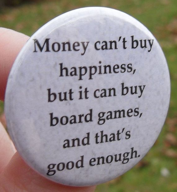 Board games = happiness