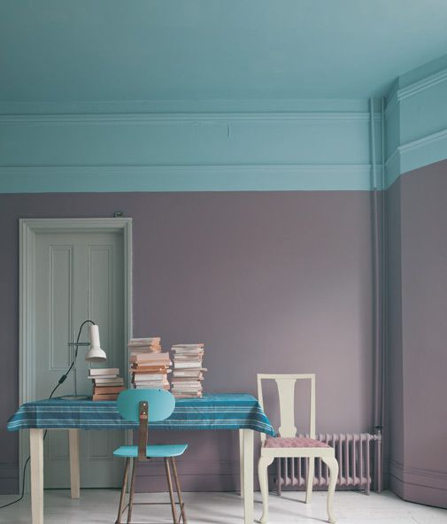 Looove this colour combo and paint style!Wall Colors, Colors Combos, Farrow Ball, Color Combos, Colors Combinations, Painting Colors, Painting Ideas, Painting Ceilings, Room