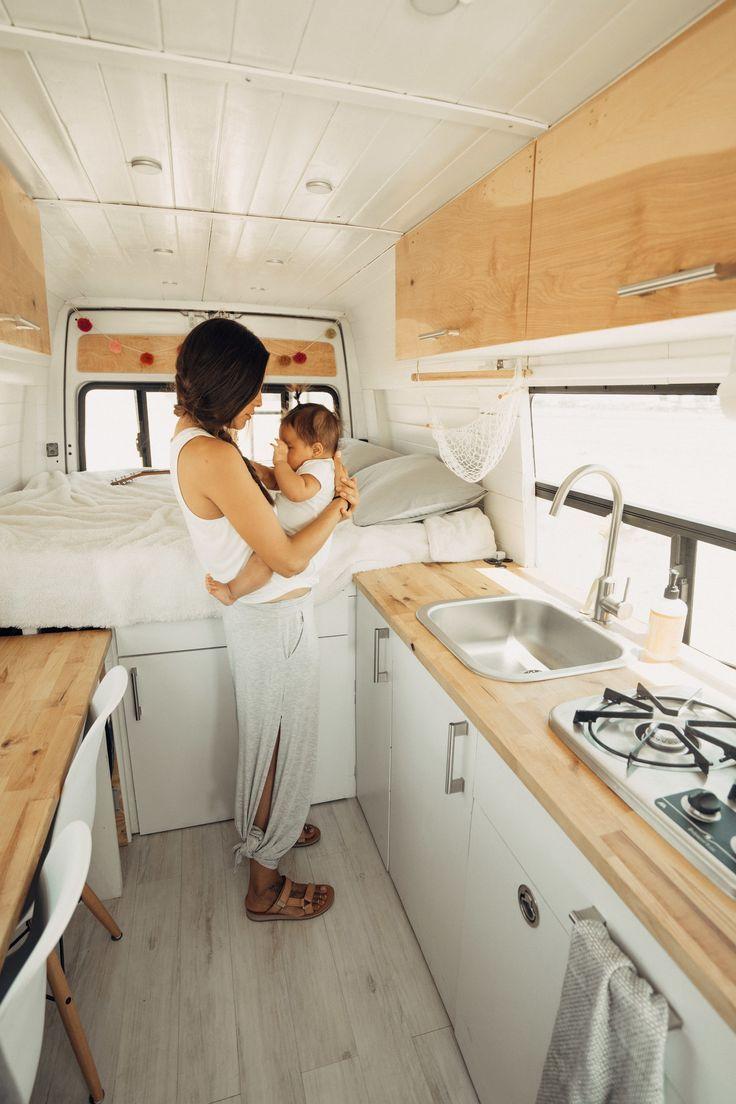 Mooi campervan interieur. Zie ook website voor bou…