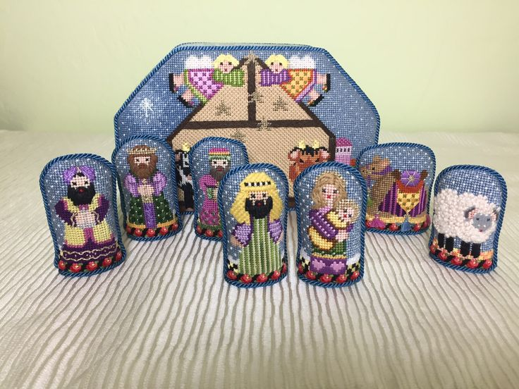 NeedleDeeva nativity set. I stitched another for my sister who collects nativity sets.