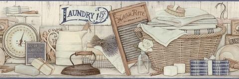 laundry room vintage wallpaper border - photo #45