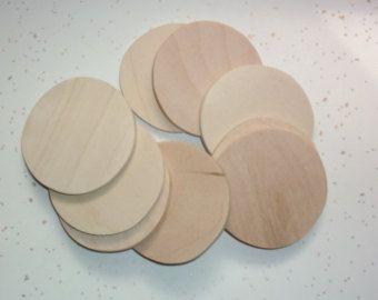 """Wood Circles, Wood Circle Shape, Ornaments, Discs, Wood Supplies, Wood Craft, Craft Supplies, Wood cut outs, Craft Wood - 2 1/2"""" - QTY 50   10.00"""