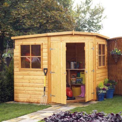 7x7 murrow pent shiplap wooden shed