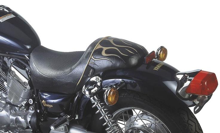 Corbin custom saddle for an XV 535 Very Virago
