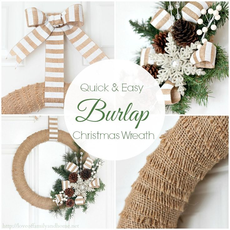 Burlap Christmas Wreath Tutorial - Love of Family & Home