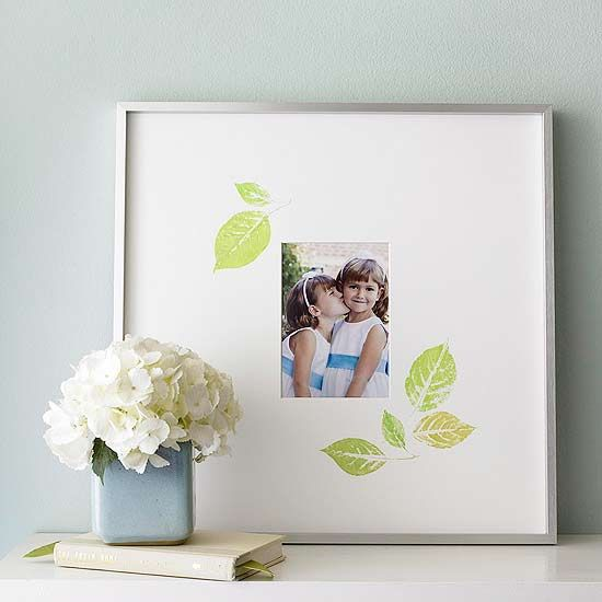 Leaf Print Photo Frame Gift