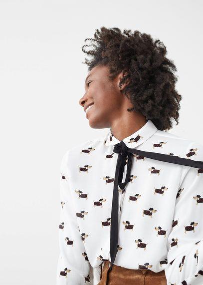 Рубашка с лентой
