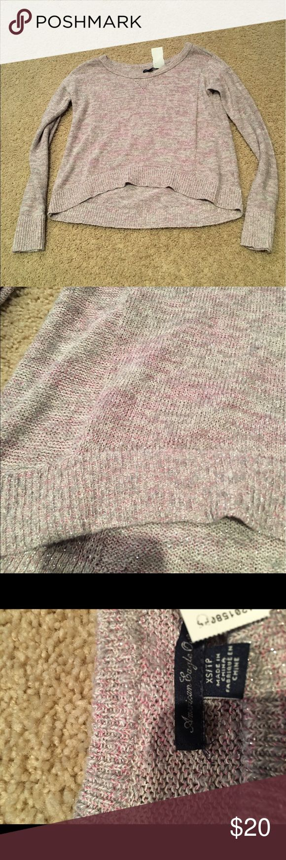 Gray and purple long sleeve top never worn Gray and purple long sleeve top never worn American Eagle Outfitters Tops Tees - Long Sleeve